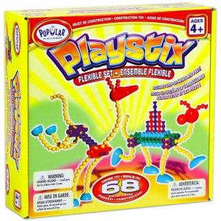 Playstix flexibilis készlet, 68 db (Popular, építőjáték készlet, 3-99 év)