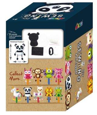 Plüss ceruzadísz varrás Panda, kreatív játék (Avenir, 5-10 év)