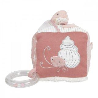 Plüss készségfejlesztő kocka rózsaszín, Little Dutch bébijáték (4815)