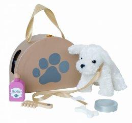 Plüss kiskutya hordozható házikóval, szerepjáték (Jabadabado, 3-7 év)