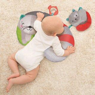 Pocakpárna rágókával Cicamama és kicsinye, bébijáték (CLEM)