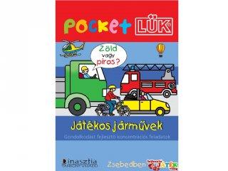 Pocket Lük, Játékos járművek, gondolkodást fejlesztő koncentrációs feladatok (egyszemélyes fejlesztőjáték, 6-10 év)