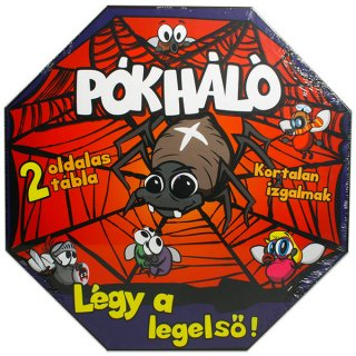 Pókháló, LÉGY az első! (vidám, kétoldalas társasjáték egy póknyi nehezítéssel, 4-12 év)