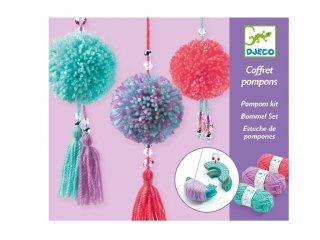 Pompon készítő műhely, Djeco kreatív készlet - 9835 (7-13 év)