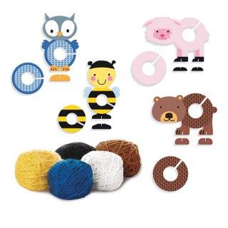Pompon készítő szett, állatos Diset kreatív készlet (4-10 év)