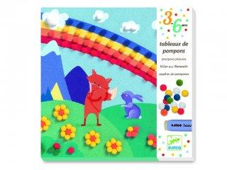 Pomponkép készítő, Erdei állatok (Djeco, 9865, kreatív készlet, 3-6 év)