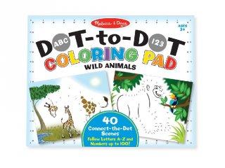 Pontról pontra színező, Vadállatok (9104, Melissa&Doug, 40 db-os rajzoló készlet, 3-8 év)