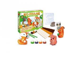 Porcelán erdei állat készítő készlet, Sentosphére, kreatív játék (7-14 év)