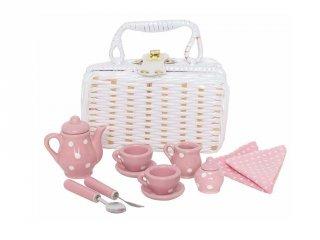 Porcelán piknik készlet kosárban, szerepjáték (Jabadabado, 3-7 év)