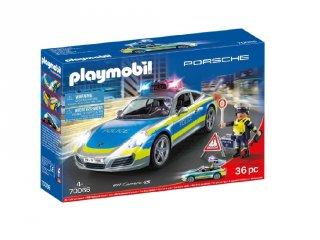 Porsche 911 Carrera 4S rendőrségi autó, Playmobil szerepjáték (70066, 4-10 év)