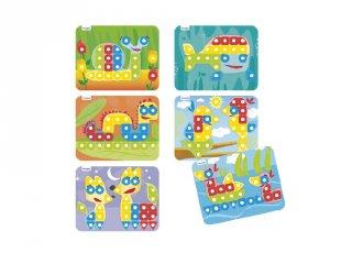 Pótlapok nagyméretű pötyi játékhoz (Miniland, 95023, kreatív játék, 2-5 év)