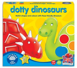 Pöttyös dínók (Orchard, dotty dinosaurs, színeket és formákat párosító társasjáték, 3-6 év)