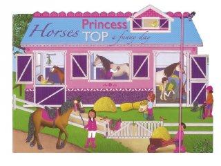 Princess TOP Horses: a funny day Blue, újraragasztható matricás foglalkoztató füzet (NAP, 3-10 év)