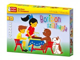 Puzzle: Boribon szülinapja (Keller & Mayer, 2 kirakható kép, 12 és 20 db-os puzzle, 3-8 év)