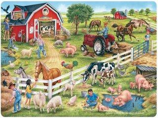 Puzzle: Farm (TS Shure, 1149/11, Puzzle: On the farm, 24 db-os puzzle, 3-5 év)