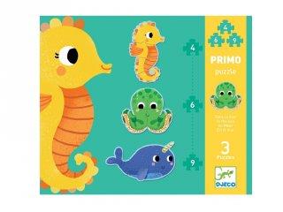 Puzzle Primo A tengerben, Djeco vegyes darabszámú kirakó - 7144 (2-4 év)