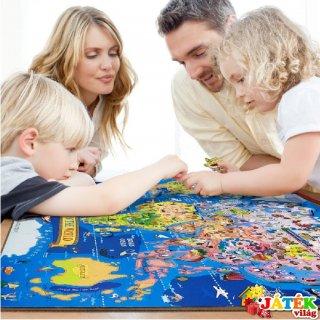 Puzzle: Világtérkép (TS Shure, 418, Map of the world, mágneses fa, 111 db-os puzzle 6-12 év)
