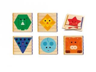 Puzzles Basic, Djeco kirakó fából - 6211 (3-6 év)