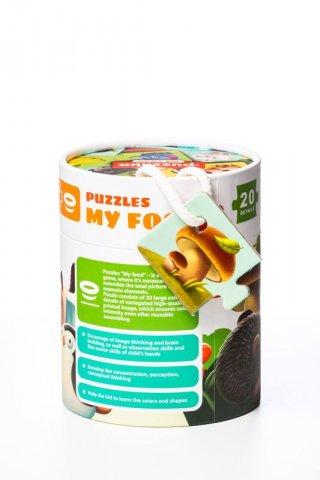Puzzlika Ételek, 20 db-os XXL puzzle (2-5 év)