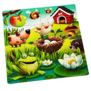 Puzzlika Kedvenc állatok 3 az 1-ben XXL puzzle (2-5 év)