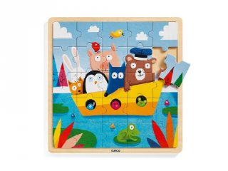 Puzzlo Boat, Djeco 25 db-os fa bébi puzzle - 1816 (2-4 év)