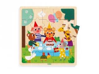 Puzzlo Happy, Djeco 25 db-os fa bébi puzzle - 1815 (2-4 év)