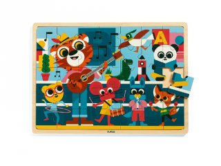 Puzzlo Music, Djeco 35 db-os fa puzzle - 1817 (3-6 év)