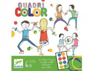 Quadri Color (Djeco, 8447, függőleges Twister, parti-, és ügyességi társasjáték, 5-12 év)