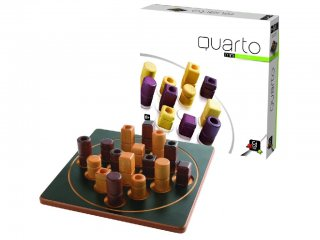 Quarto mini, amőba, ötödölő (Gigamic, minőségi fa, kétszemélyes stratégiai társasjáték, 8-99 év)