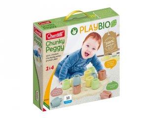 Quercetti Play Bio Chunky 13 db-os bébi pötyi készlet, babajáték (84162, 1-4 év)