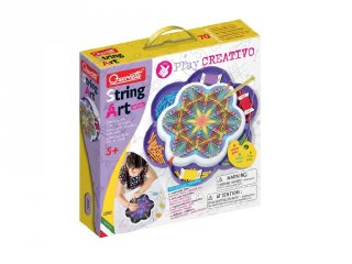 Quercetti Play Creativo String Art Mandala, kreatív készlet (5-10 év)