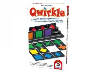 Qwirkle fémdobozos, formák, színek, kombinációk!, logikai társasjáték (6-99 év)