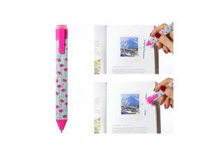Radírozható könyvjelző toll, Flamingó