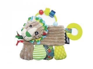 Rágókás csörgő babajáték, Jélécros, az oroszlán (Deg, 20019, plüss bébijáték, 0-2 év)