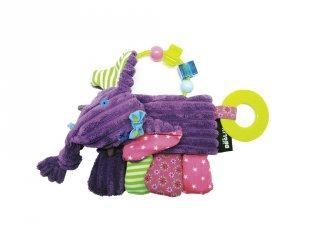 Rágókás csörgő babajáték, Sandykilos, az elefánt (Deg, 20016, bébijáték, 0-2 év)