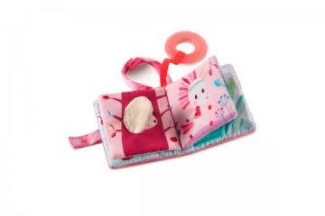 Rágókás textilkönyv, Louise egyszarvú (Lilliputiens, bébijáték, 0-3 év)