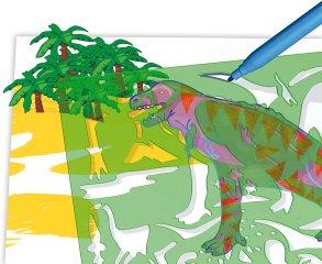 Rajzsablon Dinoszaurusz, Quercetti kreatív készlet (4-8 év)