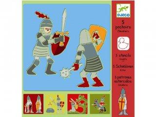 Rajzsablon, Lovagok (Djeco, 8859, 5 db-os kreatív rajzkészlet, 4-8 év)