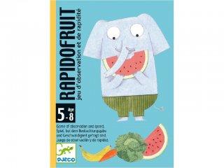 Rapidofruit (Djeco, 5137, gyümölcsös, állatos párkereső kártyajáték, 5-8 év)