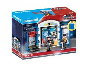 Rendőrállomás játékbox, Playmobil szerepjáték (70306, 4-10 év)