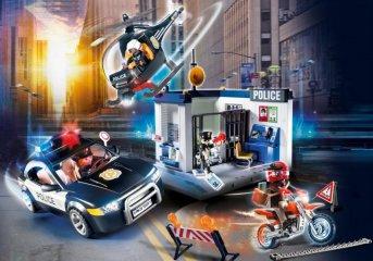 Rendőrség autóval és helikopterrel, Playmobil szerepjáték (70326, 4-10 év)