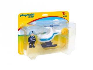Rendőrségi kishelikopter kicsiknek, Playmobil szerepjáték (9383, 1,5-4 év)