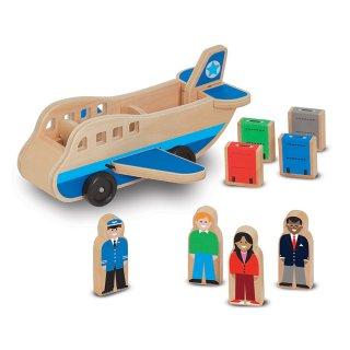 Repülőgép szett figurákkal (Melissa&Doug, gyerek fajáték, 2-7 év)