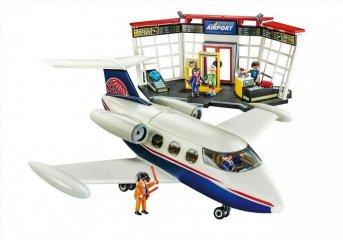 Repülőtér repülővel, Playmobil szerepjáték (70114, 4-10 év)