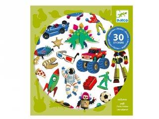 Retro toys, Djeco 30 db-os matrica készlet - 9263
