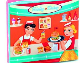 Ricky és Daisy gyorsétterme (Djeco, 6635, boltos, sütős szerepjáték, 3-7 év)