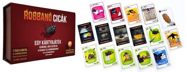 Robbanó cicák, egy roppant szórakoztató kártyajáték (7-99 év)