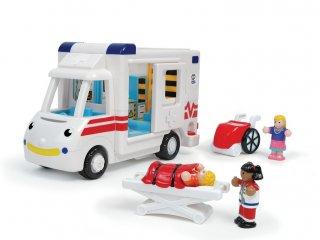 Robin, a mentőautó, figurákkal, berendezéssel (Wow Toys, 18 hó-5 év)