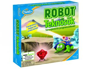 Robot teknősök (Thinkfun, programozást bevezető logikai társasjáték, 4-14 év)