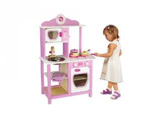 Rózsaszín játékkonyha (FP, fa szerepjáték, 3-8 év)